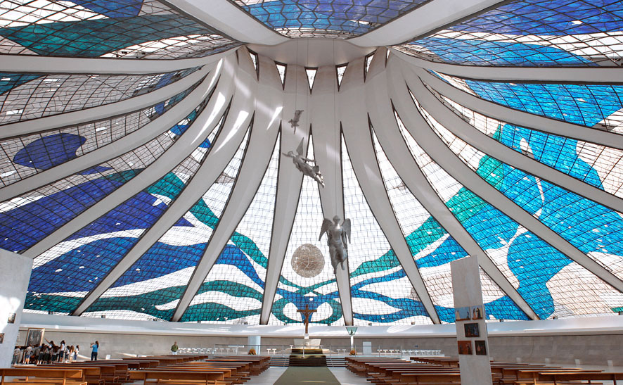 Picture of Brasilia's Cathedral interior